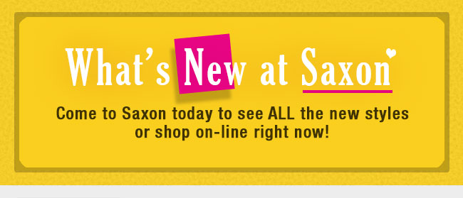 What's New at Saxon